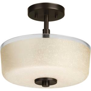 Alexa - 10.875 Inch Height - Close-to-Ceiling Light - 2 Light - Bowl Shade - Line Voltage