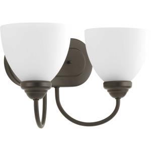 Heart - 2 Light in Farmhouse style - 13.69 Inches wide by 8.25 Inches high