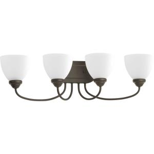 Heart - 4 Light in Farmhouse style - 29.88 Inches wide by 8.25 Inches high