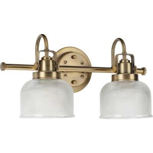 Archie - 2 Light in Coastal style - 17 Inches wide by 8.75 Inches high