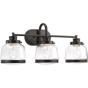 Judson - 3 Light in Farmhouse style - 26 Inches wide by 11.25 Inches high