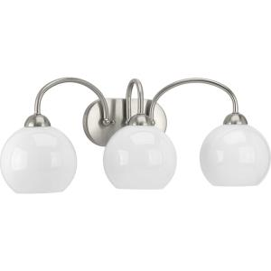 Carisa - 3 Light in Mid-Century Modern style - 25 Inches wide by 10 Inches high