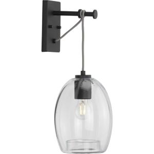 Caisson - Wall Brackets Light - 1 Light - Globe Shade in Bohemian and Mid-Century Modern style - 7.88 Inches wide by 14.75 Inches high