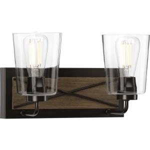 Briarwood - 2 Light - Cylinder Shade in Coastal style - 14.75 Inches wide by 8.25 Inches high