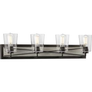 Briarwood - 4 Light - Cylinder Shade in Coastal style - 34.75 Inches wide by 8.25 Inches high