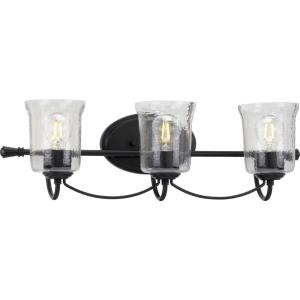 Bowman - 3 Light - Bell Shade in Coastal style - 25 Inches wide by 7.75 Inches high