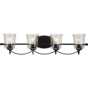 Bowman - 4 Light - Bell Shade in Coastal style - 33.63 Inches wide by 7.75 Inches high