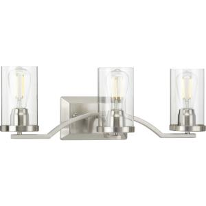 Lassiter - 3 Light - Cylinder Shade in Modern style - 24 Inches wide by 8 Inches high