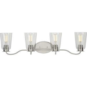 Durrell - 4 Light - Bell Shade in Coastal style - 31.25 Inches wide by 7.88 Inches high