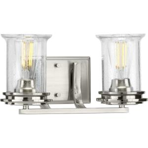 Winslett - 2 Light - Cylinder Shade in Coastal style - 14.25 Inches wide by 7.25 Inches high