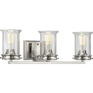 Winslett - 3 Light - Cylinder Shade in Coastal style - 23.75 Inches wide by 7.25 Inches high