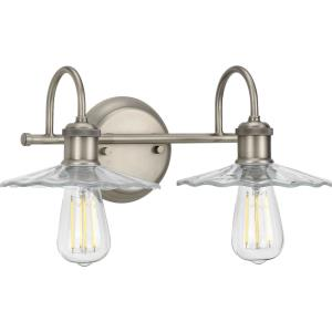 Fayette - 2 Light - Cone Shade in Farmhouse style - 16.5 Inches wide by 6.5 Inches high