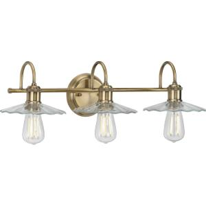 Fayette - 3 Light - Cone Shade in Farmhouse style - 25.5 Inches wide by 6.5 Inches high