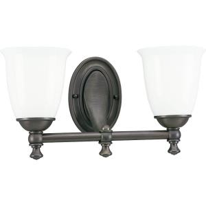 Victorian - 2 Light in Farmhouse style - 16.63 Inches wide by 8.75 Inches high