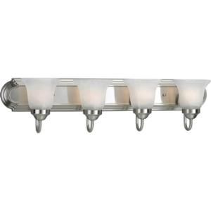 Alabaster Glass - 30 Inch Width - 4 Light - Line Voltage - Damp Rated