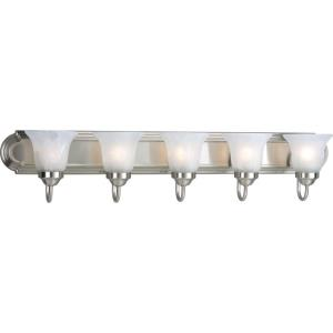 Alabaster Glass - 5 Light in Transitional and Traditional style - 36 Inches wide by 7.25 Inches high