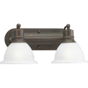 Madison - 2 Light - Bell Shade in Transitional and Traditional style - 17.5 Inches wide by 8 Inches high