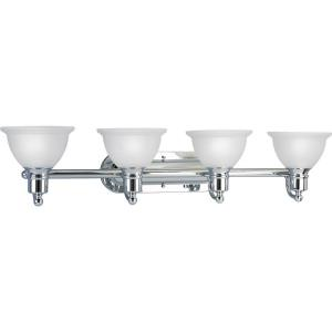 Madison - 4 Light - Bell Shade in Transitional and Traditional style - 37.5 Inches wide by 8 Inches high