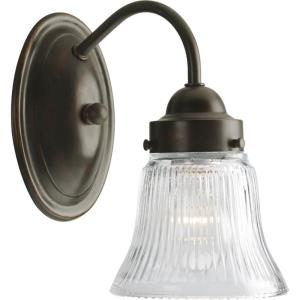 Economy Fluted Glass - 1 Light in Traditional style - 4.88 Inches wide by 8.25 Inches high