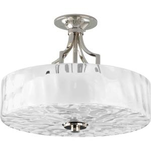 Caress - 12.125 Inch Height - Close-to-Ceiling Light - 2 Light - Bowl Shade - Line Voltage