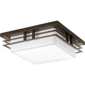 Helm LED - 3.75 Inch Height - Close-to-Ceiling Light - 1 Light - Line Voltage - Damp Rated