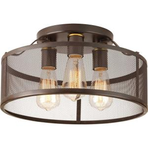 Swing - Three Light Flush Mount