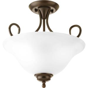 Melon - Close-to-Ceiling Light - 2 Light - Bowl Shade in Transitional and Traditional style - 13.25 Inches wide by 13.63 Inches high