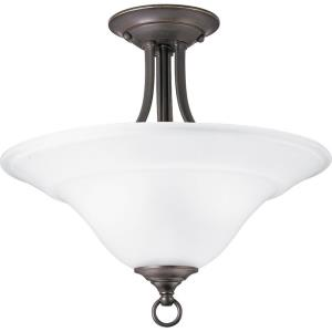 Trinity - Close-to-Ceiling Light - 2 Light - Inverted Bowl Shade in Transitional and Traditional style - 16 Inches wide by 15 Inches high