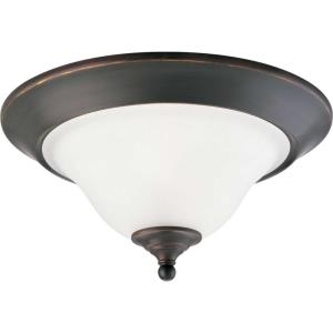 Trinity - Close-to-Ceiling Light - 2 Light - Bowl Shade in Transitional and Traditional style - 15 Inches wide by 7.5 Inches high