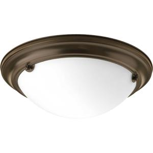 Eclipse - Close-to-Ceiling Light - 2 Light - Bowl Shade in Modern style - 15.25 Inches wide by 4.63 Inches high
