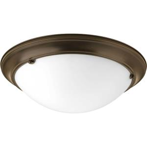 Eclipse - 5.5 Inch Height - Close-to-Ceiling Light - 3 Light - Bowl Shade - Line Voltage - Damp Rated