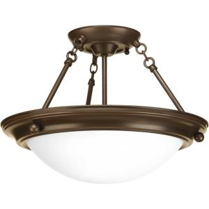 Eclipse - 10.625 Inch Height - Close-to-Ceiling Light - 2 Light - Bowl Shade - Line Voltage