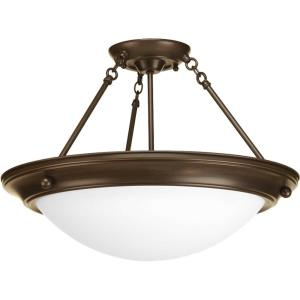 Eclipse - Close-to-Ceiling Light - 3 Light - Bowl Shade in Modern style - 19.38 Inches wide by 13.25 Inches high