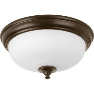 LED Alabaster - Close-to-Ceiling Light - 1 Light - Bowl Shade in New Traditional style - 13 Inches wide by 6.5 Inches high