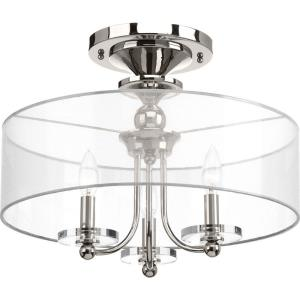 Marche - 14 Inch Height - Close-to-Ceiling Light - 3 Light - Line Voltage - Damp Rated