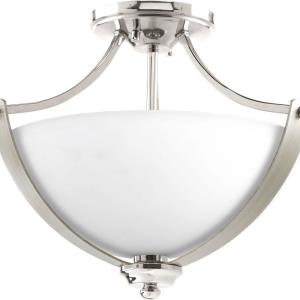 Noma - Close-to-Ceiling Light - 2 Light - Bowl Shade in Luxe and New Traditional and Transitional style - 15.63 Inches wide by 12.5 Inches high