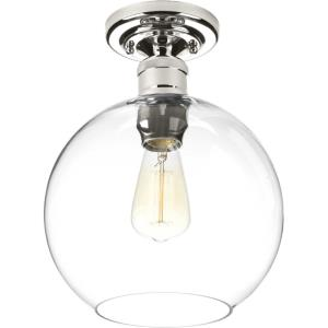 Hansford - Close-to-Ceiling Light - 1 Light - Sphere Shade in Coastal style - 10 Inches wide by 12.63 Inches high