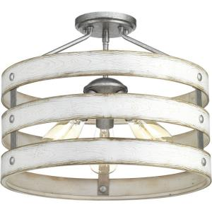Gulliver - Close-to-Ceiling Light - 3 Light in Coastal style - 17 Inches wide by 13.5 Inches high