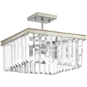 Glimmer - Close-to-Ceiling Light - 2 Light in Luxe and New Traditional and Transitional style - 13.63 Inches wide by 11.13 Inches high