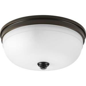 Topsail - Close-to-Ceiling Light - 3 Light - Bowl Shade in Coastal style - 15 Inches wide by 6.25 Inches high