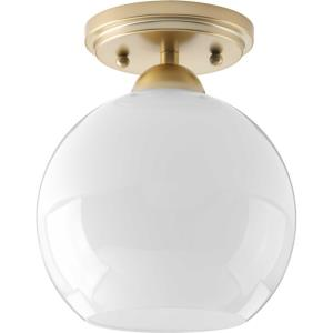 Carisa - 8.75 Inch Height - Close-to-Ceiling Light - 1 Light - Line Voltage - Damp Rated