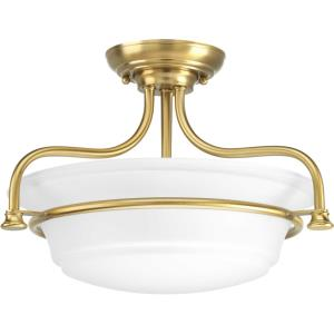 Tinsley - 12.5 Inch Height - Close-to-Ceiling Light - 2 Light - Bowl Shade - Line Voltage