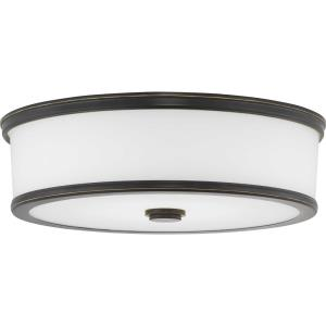 Bezel LED - 4.75 Inch Height - Close-to-Ceiling Light - 1 Light - Bowl Shade - Line Voltage - Damp Rated