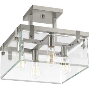Glayse - Close-to-Ceiling Light - 4 Light - Beveled Shade in Luxe and Modern style - 16.75 Inches wide by 14 Inches high