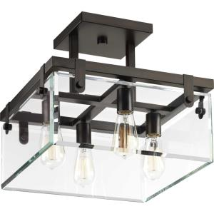 Glayse - Four Light Convertible Semi-Flush Mount