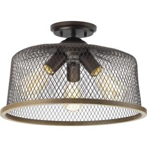 Tilley - Close-to-Ceiling Light - 3 Light in Coastal style - 16 Inches wide by 10.25 Inches high