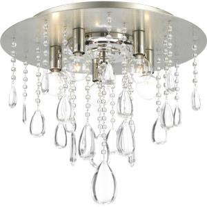 Anjoux - Close-to-Ceiling Light - 5 Light in Luxe and New Traditional and Transitional style - 16 Inches wide by 14 Inches high