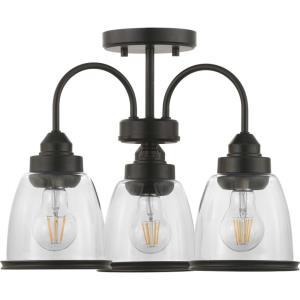 Saluda - Three Light Convertible Semi-Flush Mount