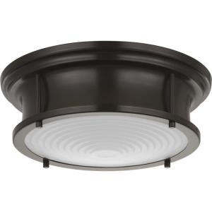 "Fresnel Lens - 12.75"" 17W 1 LED Flush Mount"