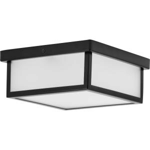 Box LED - Close-to-Ceiling Light - 1 Light in Modern Craftsman and Farmhouse style - 10.13 Inches wide by 4.25 Inches high